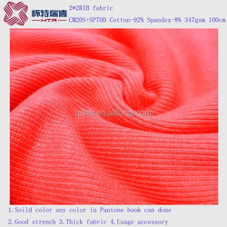 Solid color Cheaper Knitted 2*2 RIB
