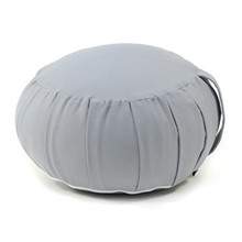 White blank pillow cover with buckwheat filling yoga meditation pillow