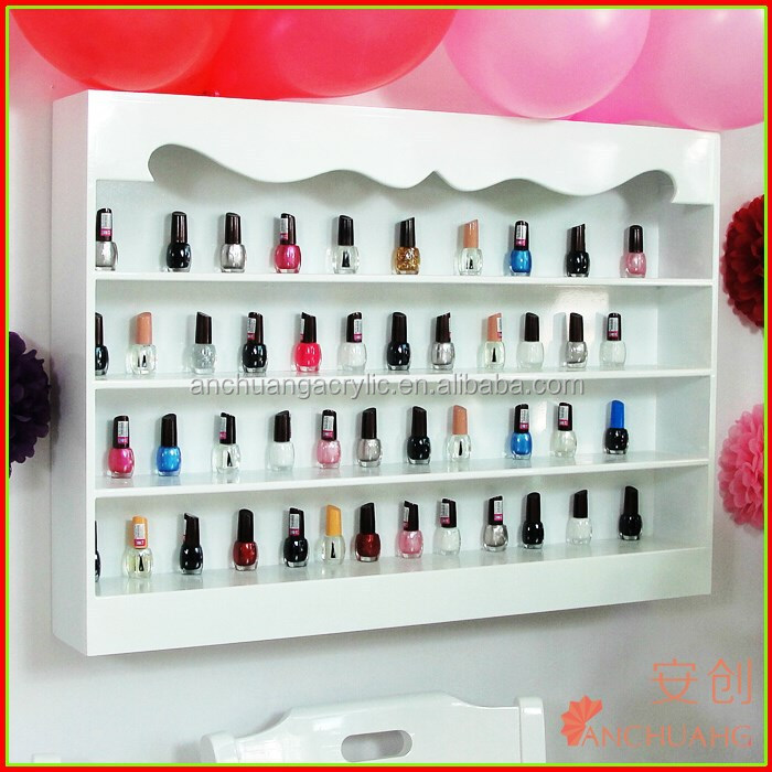 Tag re murale pour vernis ongles support d 39 affichage id - Etagere murale pour vernis a ongle ...