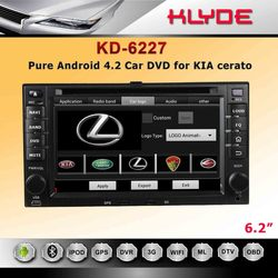 """2dins 6.2"""" HD digital touch screen 2006-2010 Kia cerato car dvd with android system"""