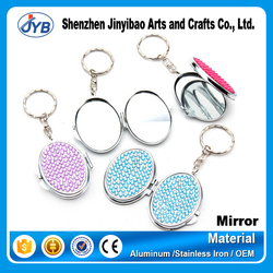 wholesale stainless steel best mini purse mirror for fashionable decorative