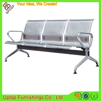 (SP-SC280) Wholesale stainless steel 3-seater long bench seating