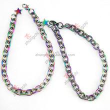 Colorful Locket Bracelet Chain, Rainbow Color Chain Braclet Wholesale 2015