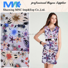 MNC textile discharge printed rayon soft and smooth fabric
