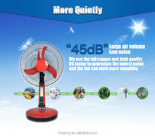 Family Emergency 16 inch 12v AC DC rechargeable solar table electric fan