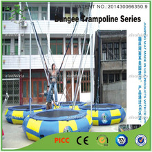 four people mobile bungee trampoline ,inflatable bungee trampoline