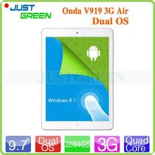 "New technology! Onda V919 3G Air 9.7"" Retina intel cpu 2GB RAM/32GB ROM Tablet Dual OS BT/WIIF/3G/phone Calling"