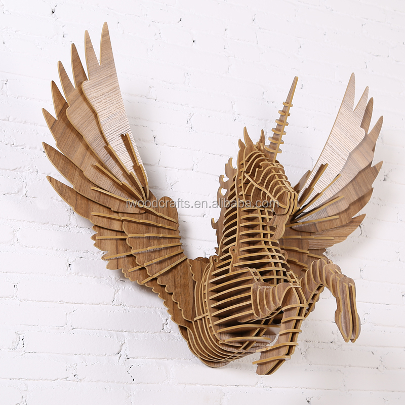 Flying unicorn art mind wood crafts wood crafts product for Art minds wood crafts