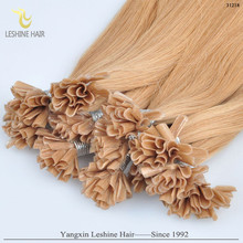 full cuticle remy tangle&shedding free 2g 1g 0.8g italian keratin glue russian u nail tip hair extention