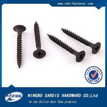 Made in Ningbo Hardware supplier ISO 9001 certified DIN7981 Stainless steel black phosphate dr,Drywall Screw and chipboard screw