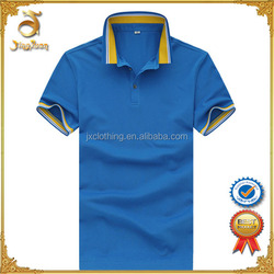 Yarn dyed collar men's polo t shirt high quality material for wholesale china