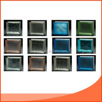 decorative side-coloured pattern glass blocks /Brick with CE&ISO9001 certificate