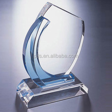 Popular updated high quality transparent crystal trophy
