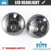 7 inch round semi sealed beam high/low led LED Halo Ring jeep headlight