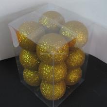 various design gold glitter foam christmas balls premium christmas ball ornament