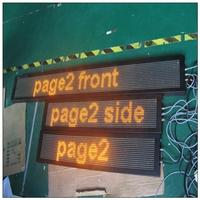 indoor full color led display led car message moving scrolling sign display taxi led signs module
