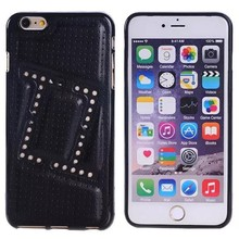 Leather Coated TPU Custom Printing Case Cover for iPhone 6 Plus