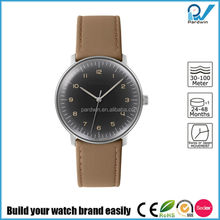 Fascinated watch collections germany design brand stainless steel case leather strap watch automatic
