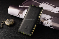 Green Soft lining phone case, stand case function, grained PU design for iphone 6