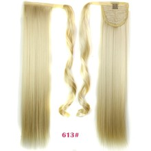 Clip in Party Women Long Straight Ribbon Wrap Around Hairpiece Ponytails Hair Extension