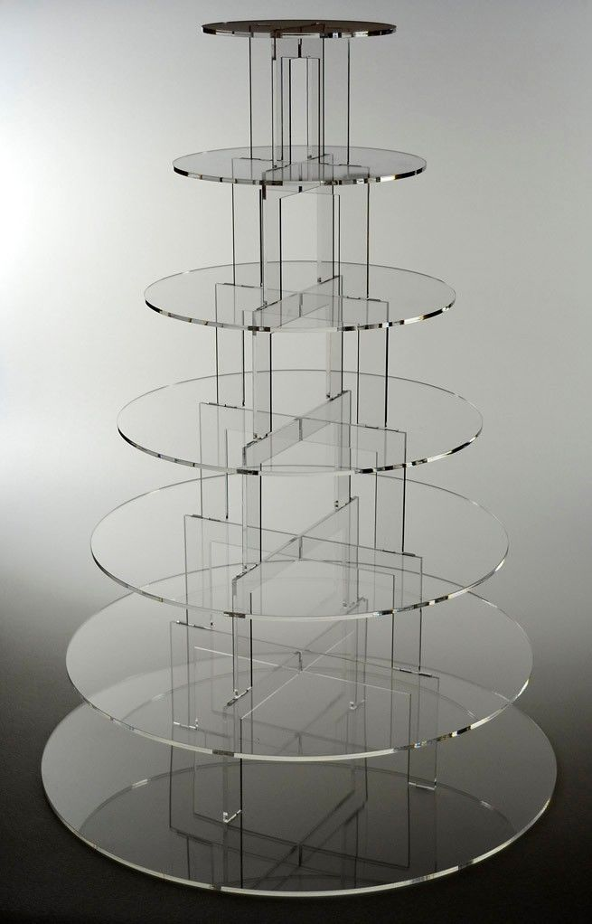 7 tier transparent acrylic square wedding cake stands (1).JPG