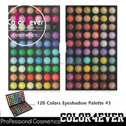 Wholesale makeup shining eyeshadow for 120colors naked cosmetics