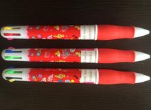 6 farben ballpoitn stift billig werbe-kugelschreiber/kunststoff-kugelschreiber/Werbung kugelschreiber