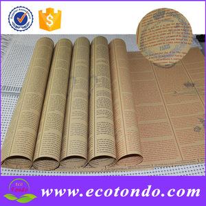 Chine fournisseur usine vieux journal impression rouleau de papier pour emballage cadeau