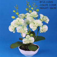 2014 Summer Home Decoration High Quality White Artificial Orchids Wholesale Flower