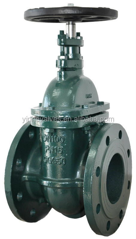 High Pressure Flow Iron : Din f ductile iron inch water or steam gate valve with