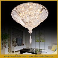american style round crystal ceiling lamp for hotel/house decoration chandelier D080/9+9