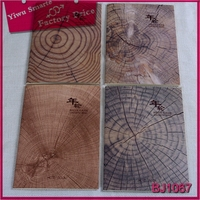 wholesale office stationery personalized wood growth ring pattern cover notebook
