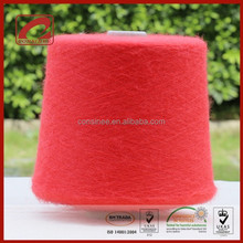 Top quality super kid mohair red fancy yarn for knitting nice dress