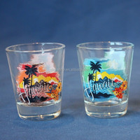 lyT1718 Hawaii tourist souvenir shot glass wholesale 2oz shot glasses V shaped glass cup custom glasses promotional shot glasses