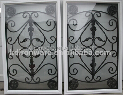 Top selling decorative door window inserts or wrought iron for Window scroll function