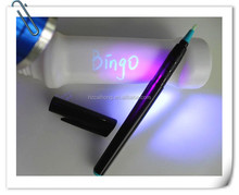 UV permanent marker pen ideal anti-counterfeiting,night-club or business gift CH-6004, three UV colors invisible ink magic pen