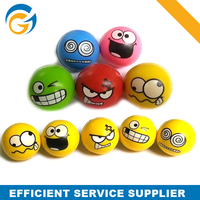 Smilling High Bouncing PU Ball Funny Face Set