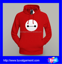 China custom silk screen printed fleece hoodies long sleeve 100 cotton pullover hoodie with cute pattern printing