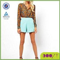 Blusas Femininas Women Blouses 2014 Spring And Summer Fashion Leopard Turn-down Collar Elegant Long-sleeve Shirt Chiffon