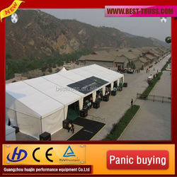 Cheap high quantity best price 30m width clear roof and sidewall wedding tent