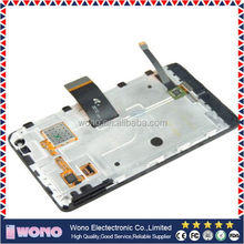 Super quality hot sell phone lcd with frame for nokia lumia 900
