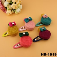 Hot new products for 2016 wholesale kids hair accessories lollipop hairpin with rhinestone bobby pin hair clips for children