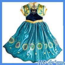 Mho-161 los nuevos niños de ropa de la princesa congelada Elsa & Anna Summer vestido de cenicienta vestidos para las muchachas