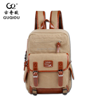 nice custom school backpack canvas leather bag with laptop compartment