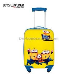 18 inch yellow cartoon design trolley luggage