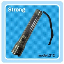 Strong power LED solar flashlight