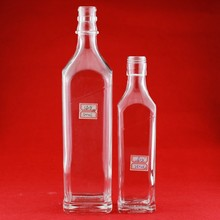 Professional 500ml wine glass bottle Chinese custom glass bottle vodka clear bottle with high quality