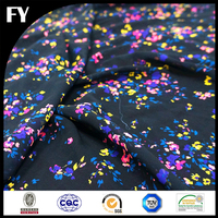 factory direct low minimum order quantity silk chiffon floral printed fabric
