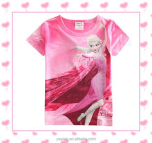 brand new baby girls fashion clothes kids frozen t-shirts for 2-7 years children tops