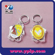 Custom Anime Penguin Shaped Transpartent Plastic Acrylic Photo Frame Key Chain Keychain